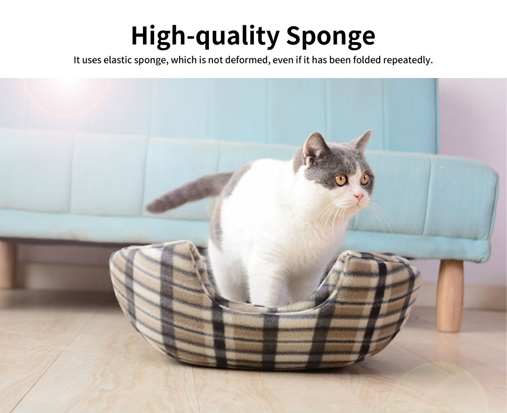 Lovely Stool Shape Pet Nest with Anti-skid Drip Plastic Design, High-quality Fleece & High-density Spong Cat Nest 5