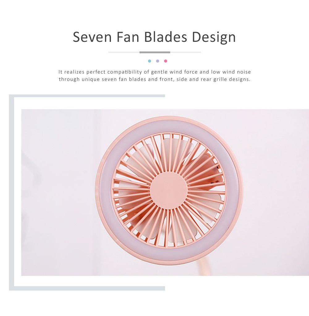 USB Mini Noiseless Clip Lamp Fan, Desktop Mini Clip Fan, Cute Flower Shape Fan for Students' Dormitory, Stroller 4