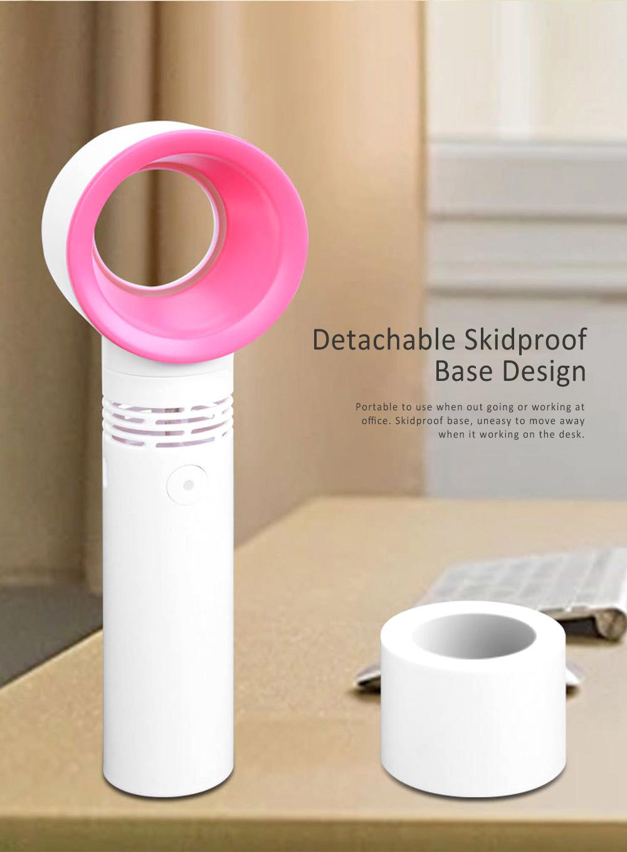USB Bladeless Fan Portable Handheld Mini Noiseless Fan, Useful for Office, Dormitory, Children Chargeable Bladeless Fan 1