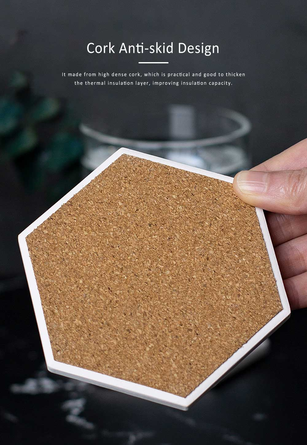 Hygroscopic Cup Mat, Heat Insulation Absorbent Coasters, Digital Printing Cup Mat 2
