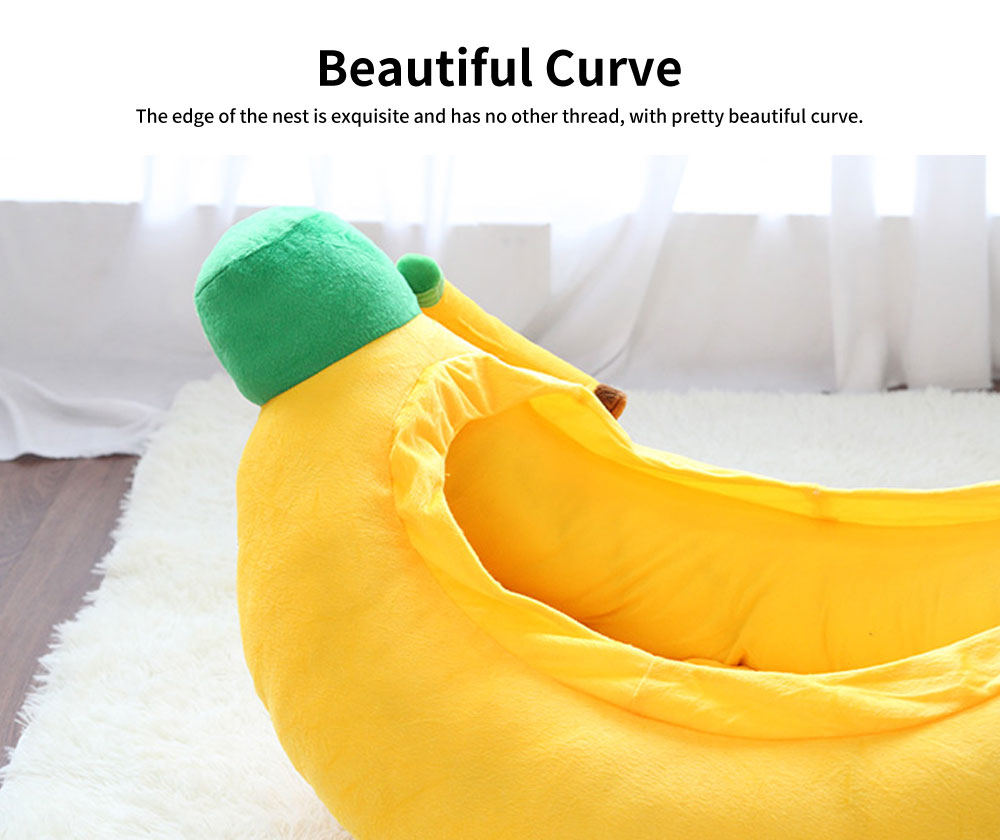 High-quality Xinjiang Cotton Cat Nest, Cute Banana Shape Pet House with Beautiful Curve 5