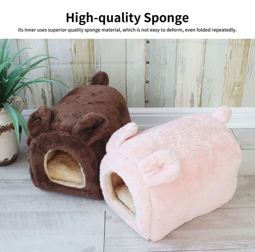 Lovely Semi-enclosed Cat Nest, Superior Flannelette Fabric Pet House with Good Resilience 1