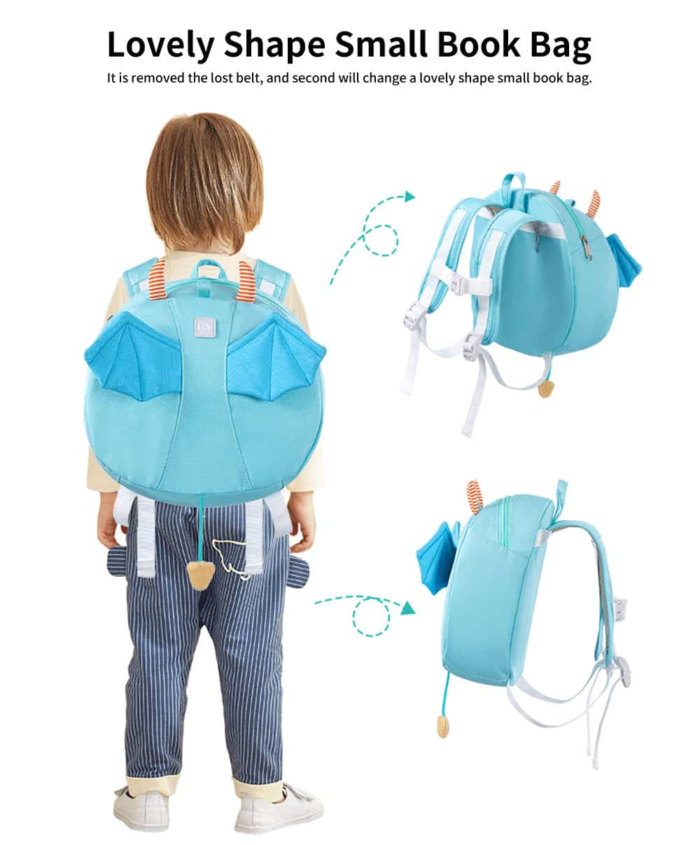 Anti-lost Small Children's Backpack, Boys' and Girls' Shoulder Bag, with H-shaped Adjustable Shoulder Belt 4