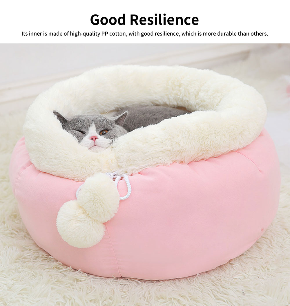 Sweet Color Embrace Barrel Model Cat Litter, Superior-quality Fluff Pet Nest With Good Resilience 1