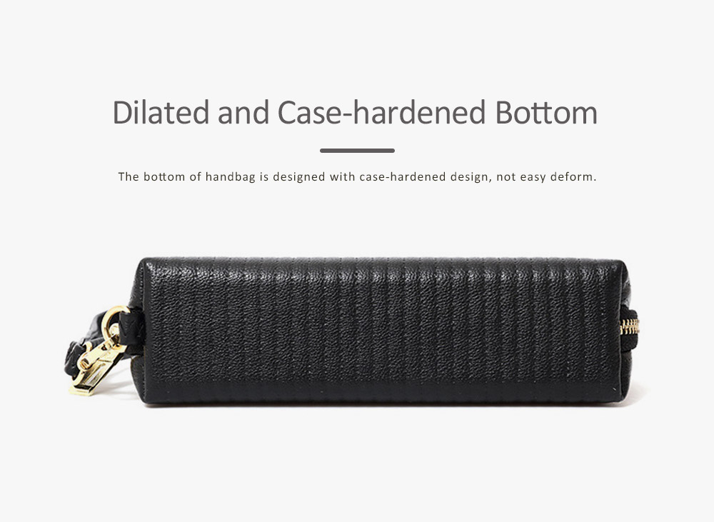 Women Clutch Solid PU Leather Strapped Long Purse Phone Holder Large Capacity Changes Purse Mini Hanging Bag 6