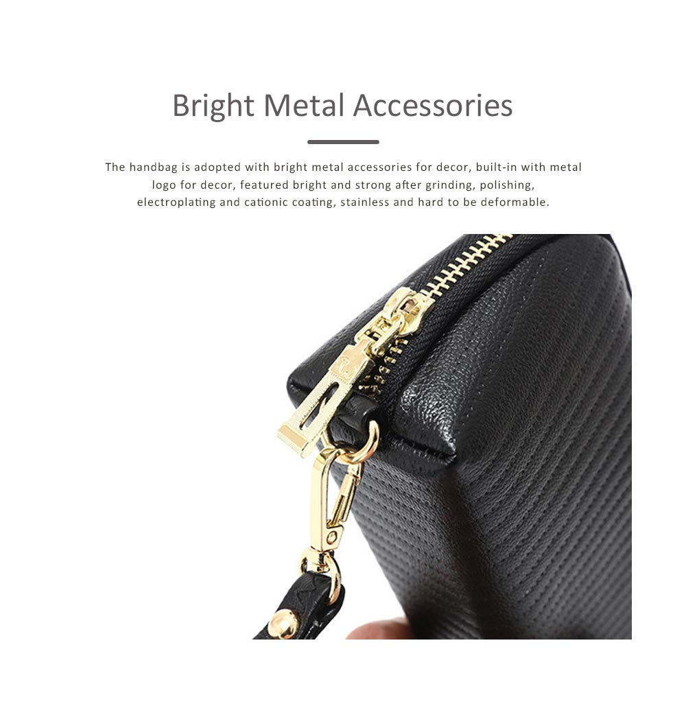 Women Clutch Solid PU Leather Strapped Long Purse Phone Holder Large Capacity Changes Purse Mini Hanging Bag 3