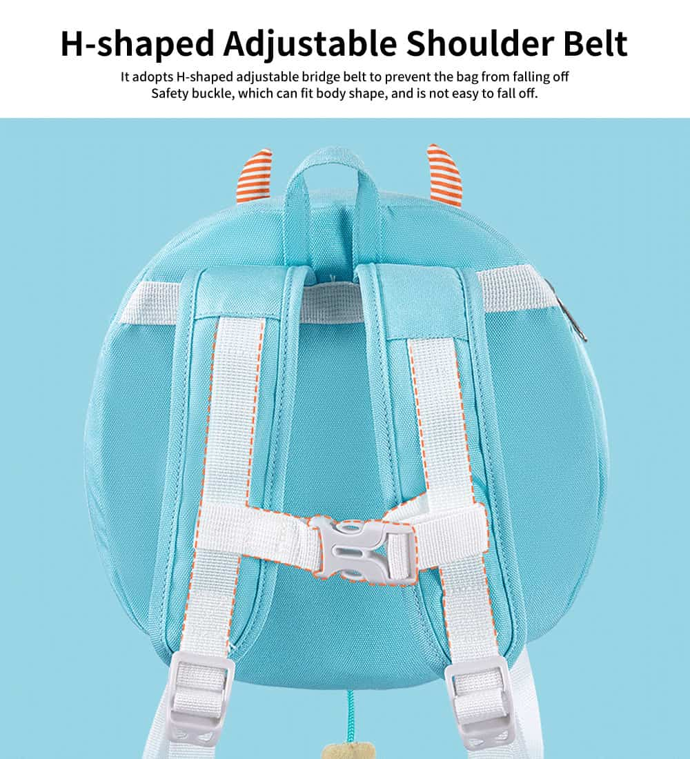 Anti-lost Small Children's Backpack, Boys' and Girls' Shoulder Bag, with H-shaped Adjustable Shoulder Belt 3