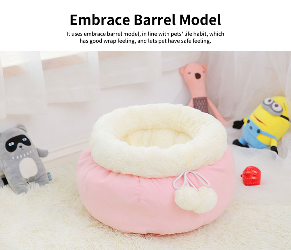 Sweet Color Embrace Barrel Model Cat Litter, Superior-quality Fluff Pet Nest With Good Resilience 2