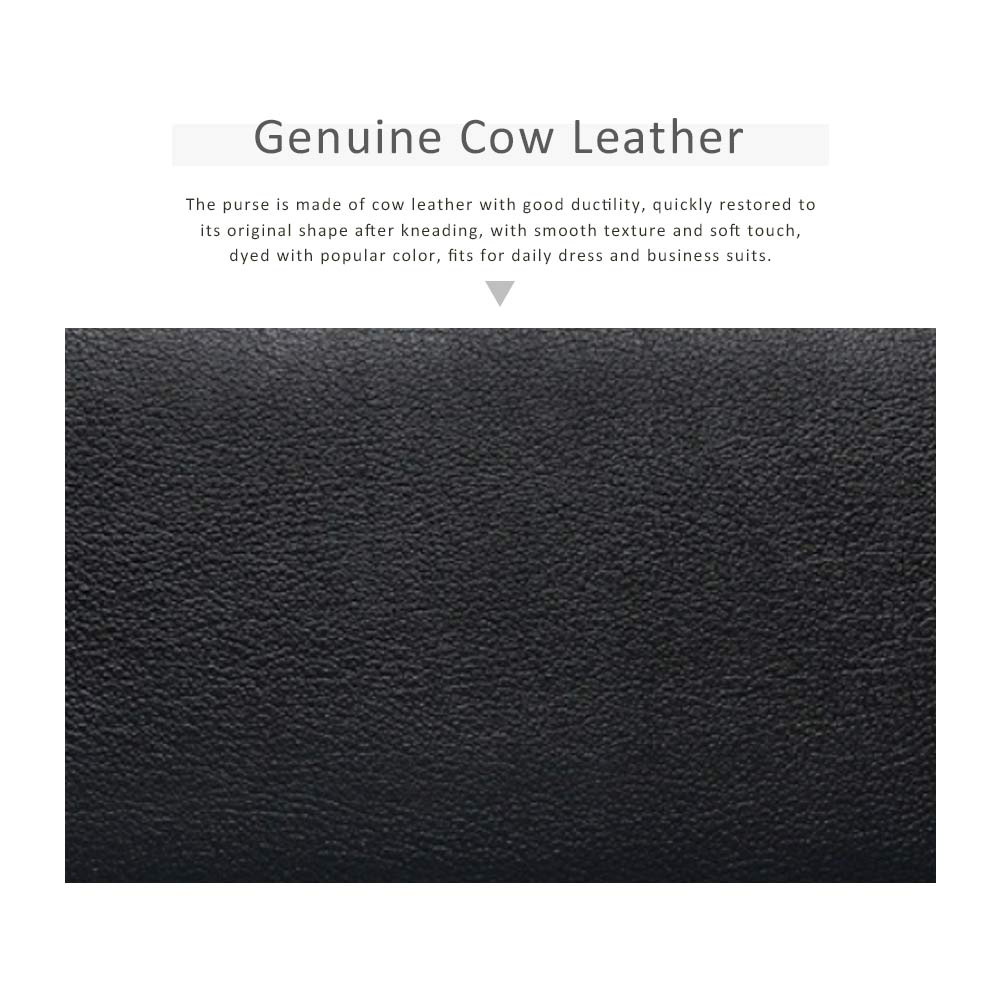 Soft Genuine Leather Purse with Multiple Card Slots, Mini Clutch Zipper Purse Oxhide Buckle Short Clutch Card Holder for Women 1