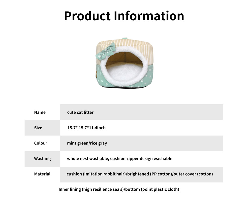 Round Shell Nest Pet Bed with Double-sided Cushion, Reactive Printing and Dyeing Fabric Cat Litter 6
