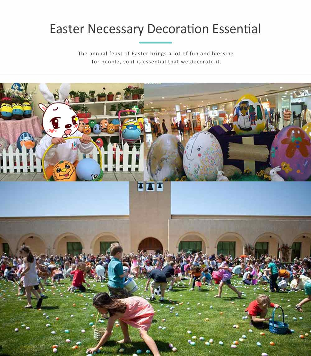 Easter Scarecrow Wreath with Rabbit Design for Kids, Creative DIY Handmade Wreath 2