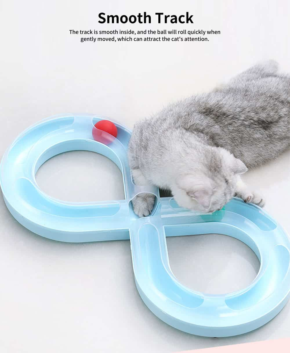 Cat  Track Toy With Anti-slip Pad, Environmental Pp Material Pet Toy, A Wide Variety Of Colors 5