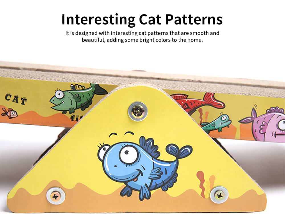 Multi-rule Cat Scratcher, A Variety of Irregular Shapes and Dizes Pet Scratcher, with Interesting Cat Patterns 1