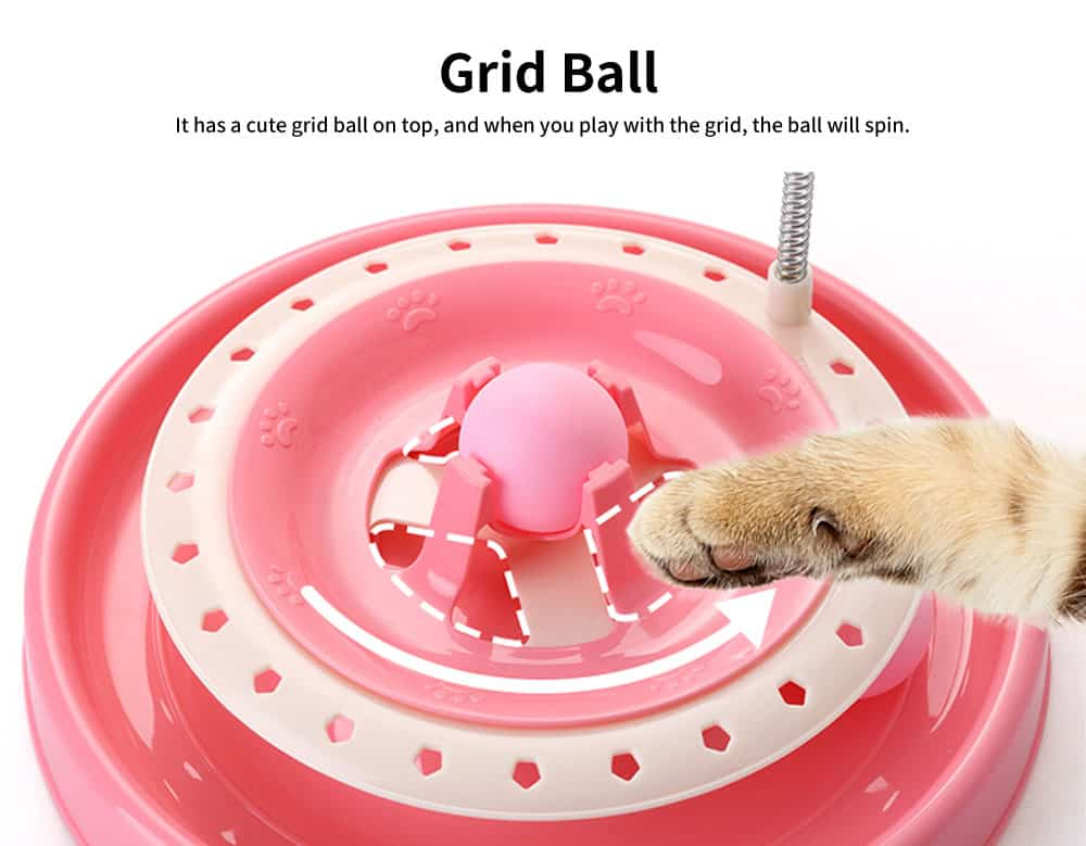 Stainless-steel Rotating Spring Cat Toy, Environment-friendly PP Material Pet Toy, with A Spring Mouse 360° Shaking 2