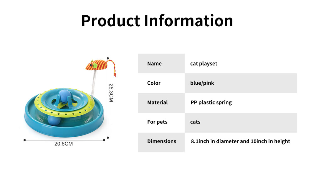 Stainless-steel Rotating Spring Cat Toy, Environment-friendly PP Material Pet Toy, with A Spring Mouse 360° Shaking 5
