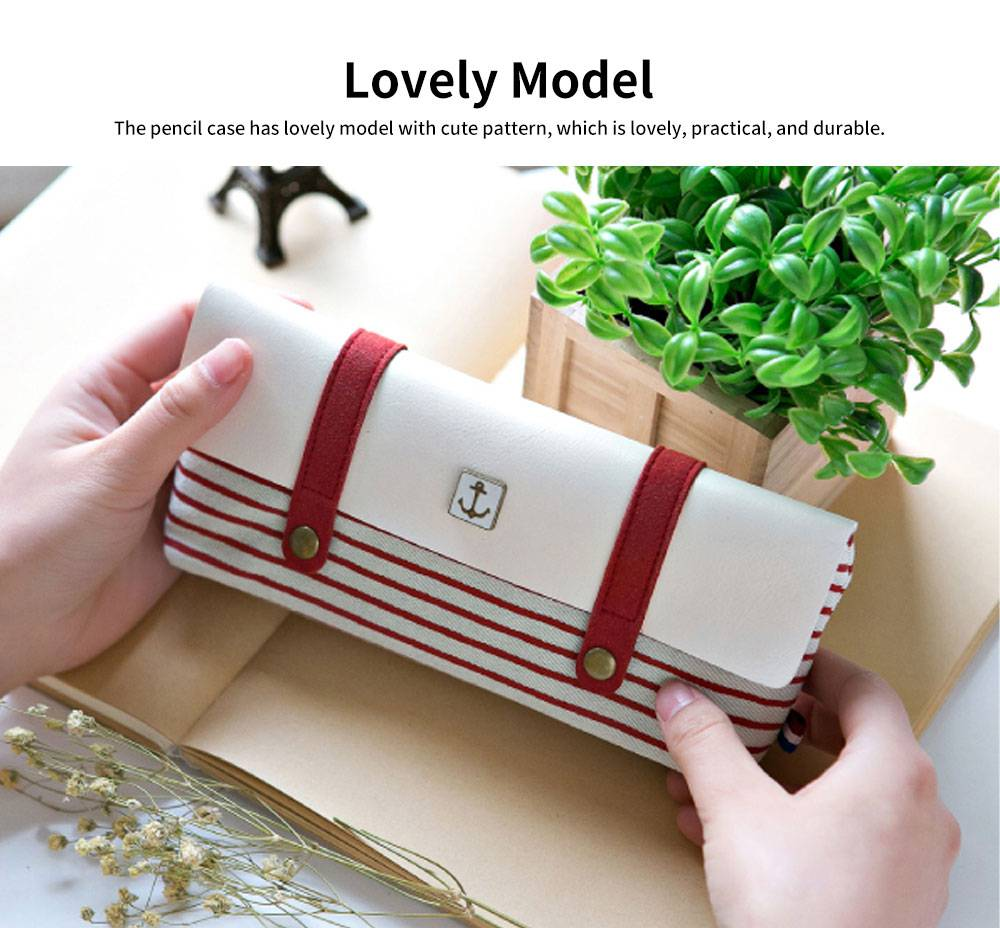 High-quality Canvas Fabric Students' Pencil Case, Small Fresh and Lovely Stationery Storage Box 4