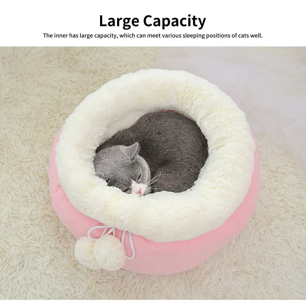 Sweet Color Embrace Barrel Model Cat Litter, Superior-quality Fluff Pet Nest With Good Resilience 3
