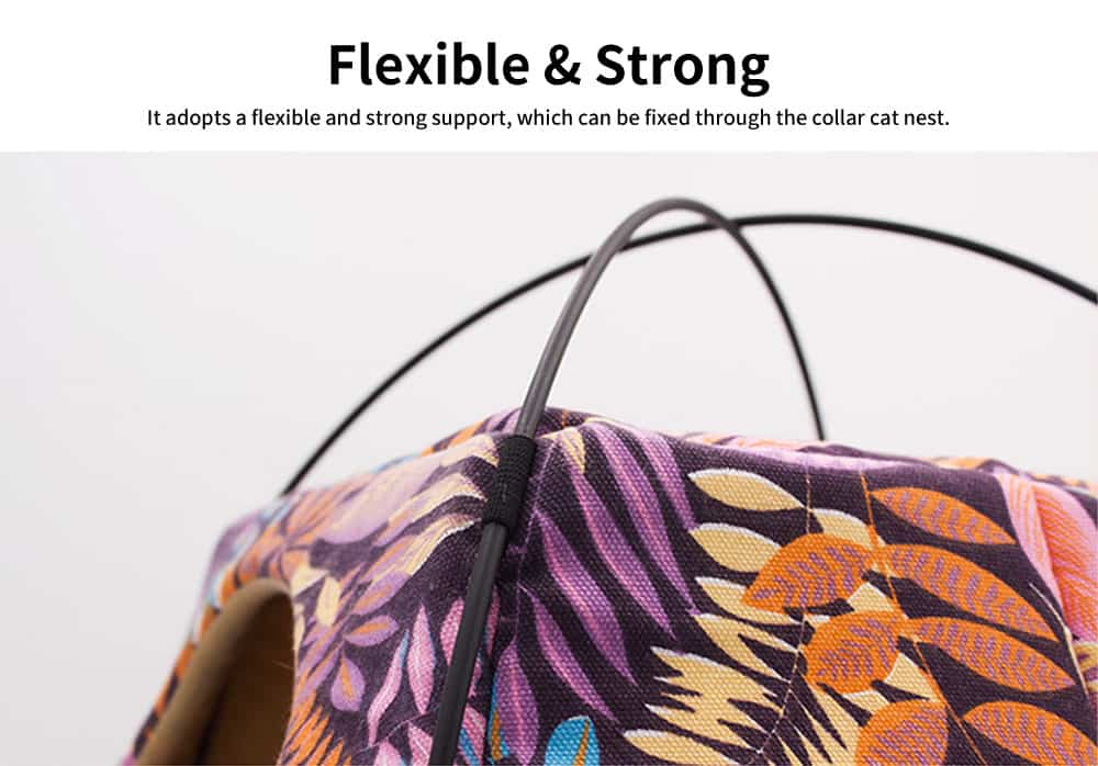Fine Printing Fabrics Cat Nest, Practical Dual-purpose Deformation Nest, with Soft Cotton Pad 2