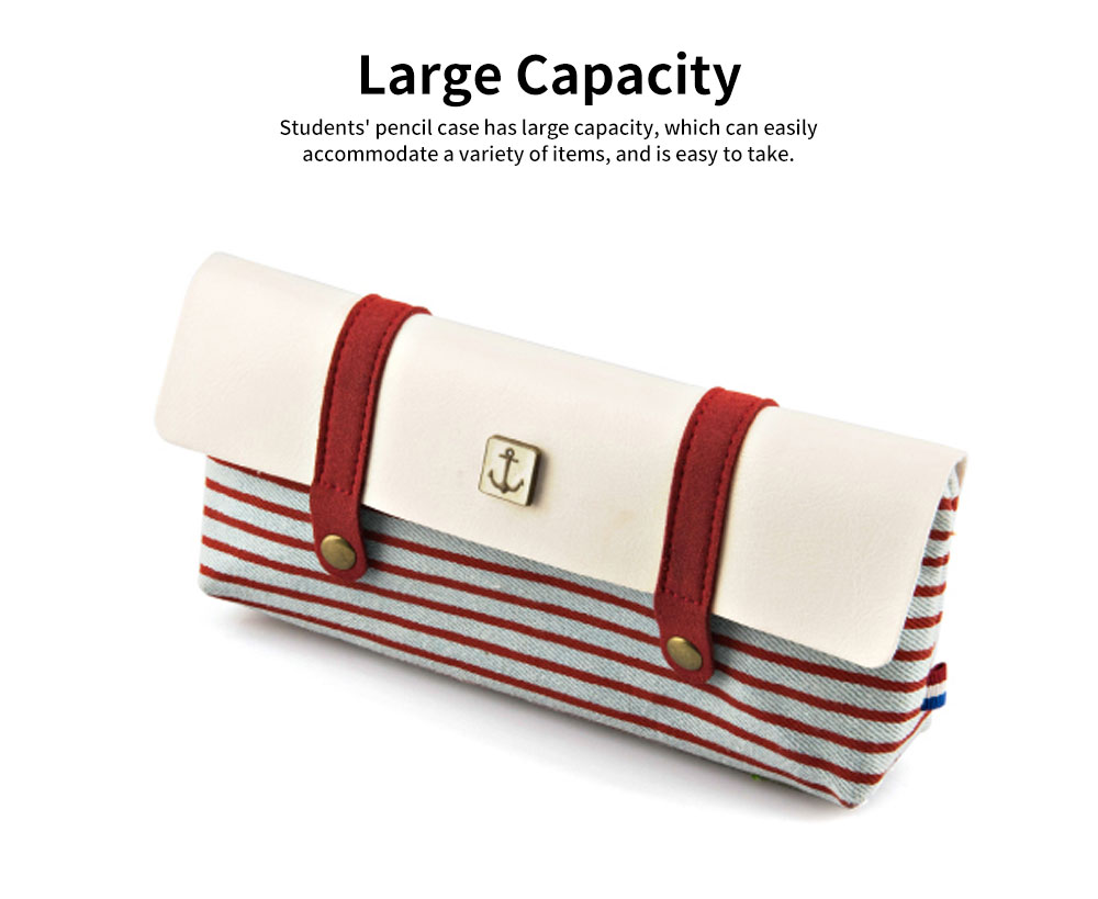 High-quality Canvas Fabric Students' Pencil Case, Small Fresh and Lovely Stationery Storage Box 3