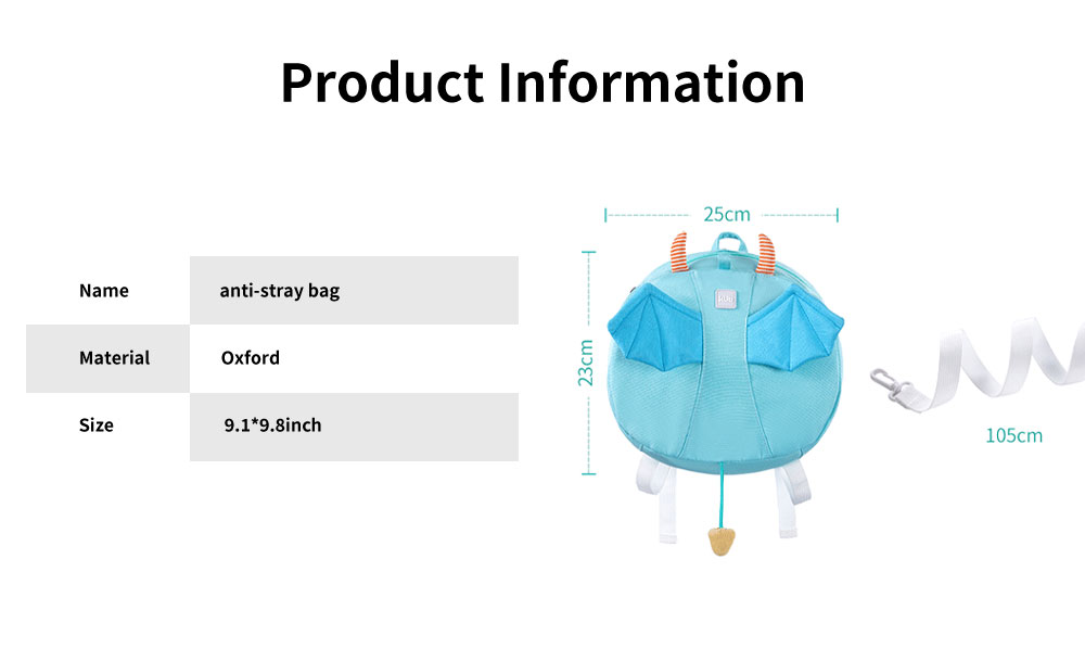 Anti-lost Small Children's Backpack, Boys' and Girls' Shoulder Bag, with H-shaped Adjustable Shoulder Belt 6