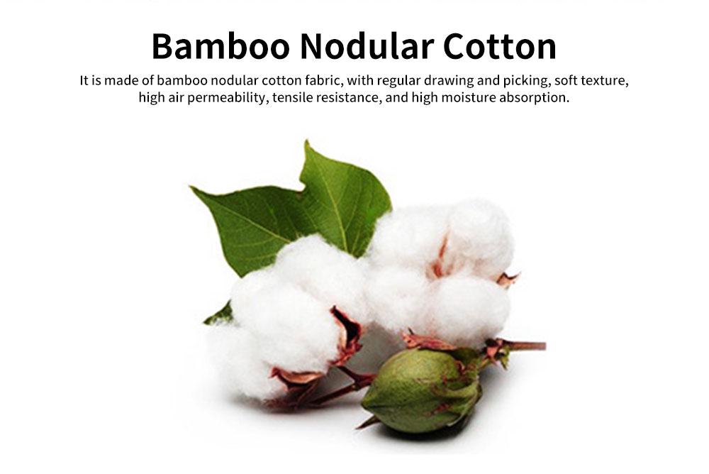 Cartoon Long-sleeved Couple Pajamas, Bamboo Nodular Cotton Round Neckline Collar Tracksuit 1