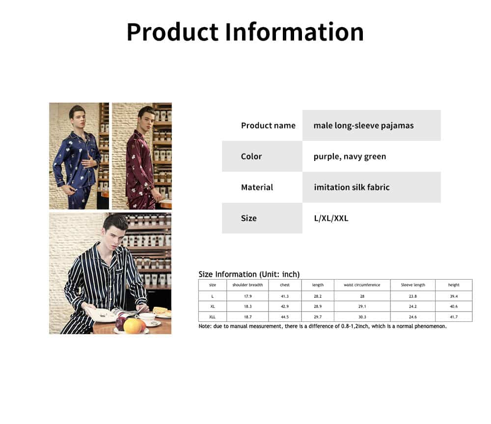 Thin Printed Long-sleeved Trousers Pajamas Set, High-quality Imitation Silk Skin-friendly Tracksuit 6