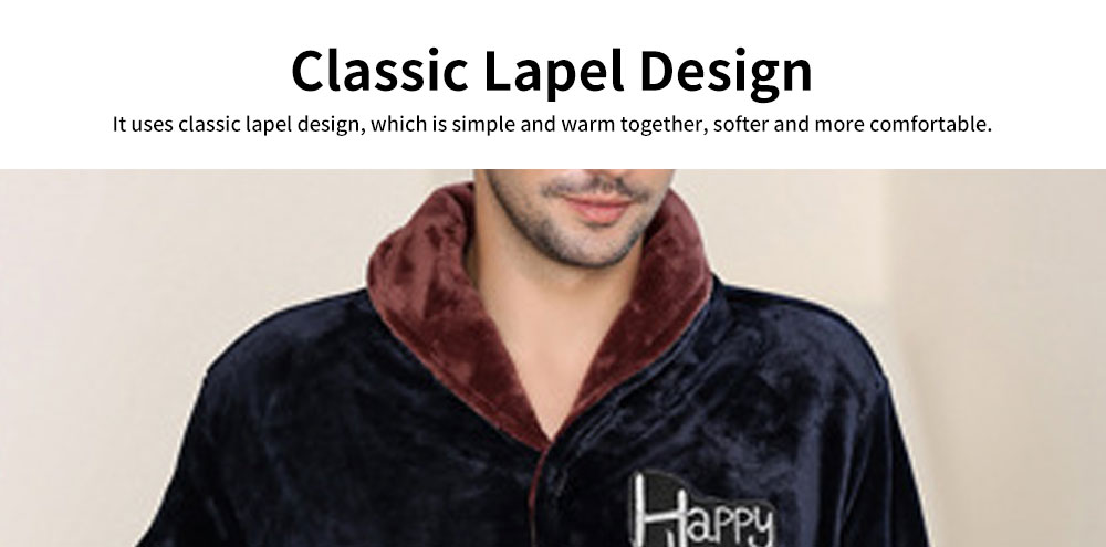 Flannel Fabric Classic Lapel Couple Pajamas, Soft and Comfortable Tracksuit Suit for Men and Women, Two-piece Suit 3