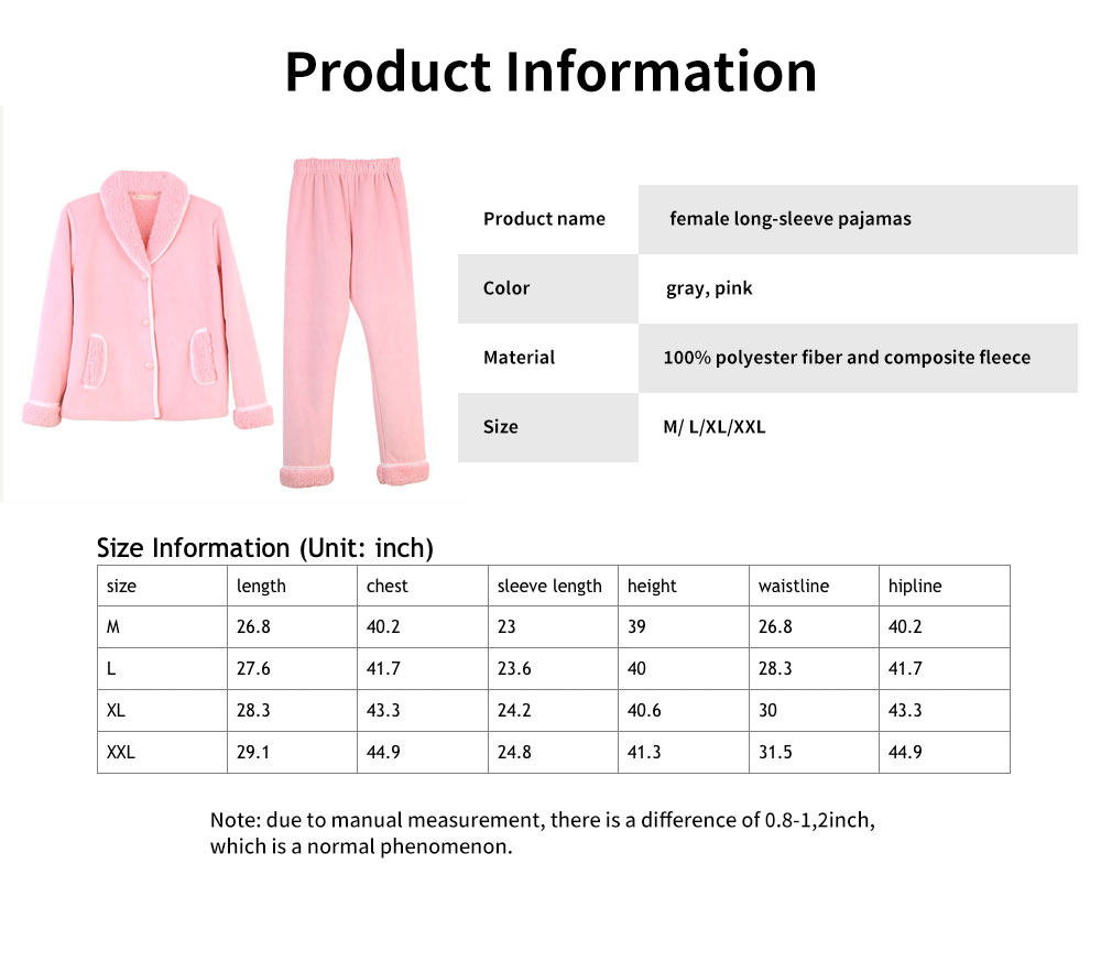 Ladies Thick High-quality Lambskin Pajamas, Classic Lapel Nighty with Comfortable Pants Head 6