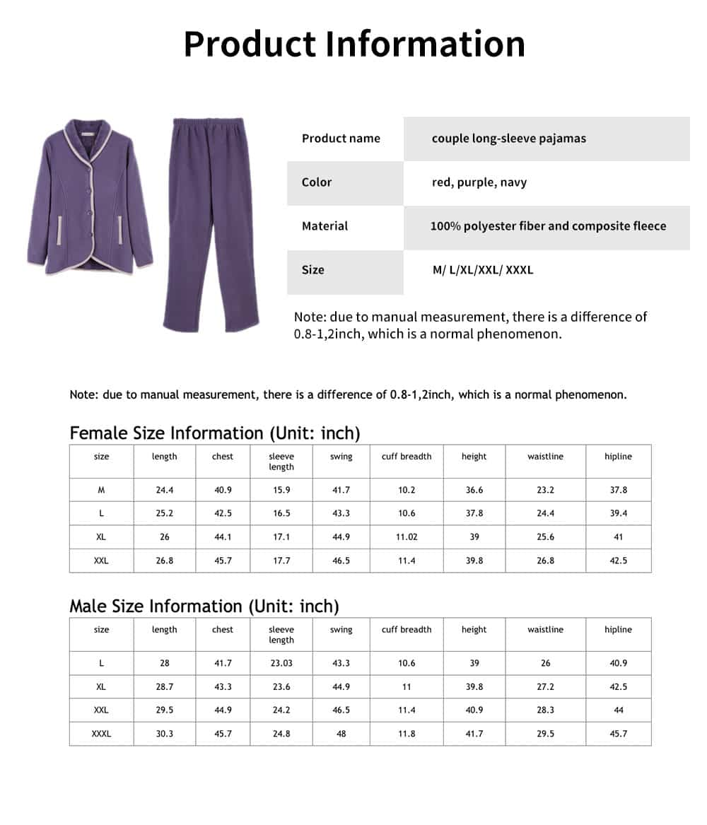 Couple Fashion Tracksuit, with Bilateral Pocket Design, Soft and Comfortable Lambskin Thickening Ladies Pajamas 6