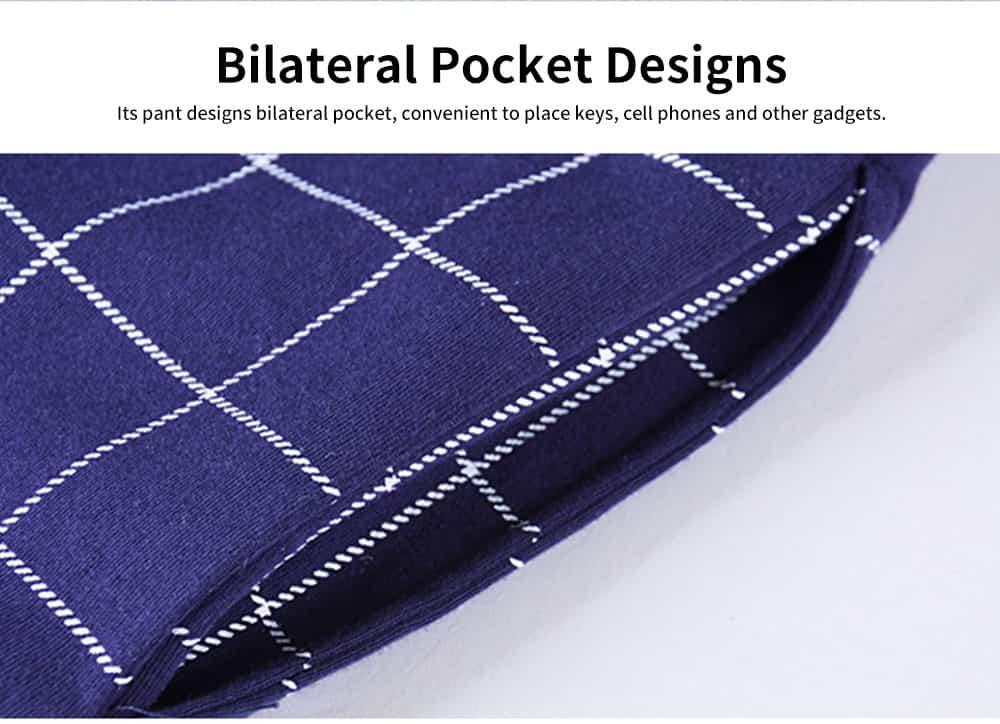 Cartoon Long-sleeved Couple Pajamas, Bamboo Nodular Cotton Round Neckline Collar Tracksuit 4