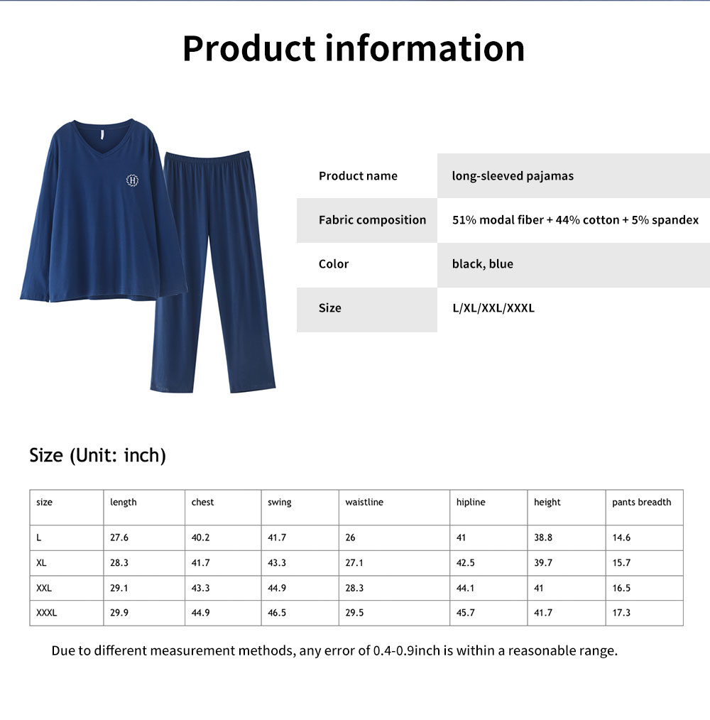 Autumn Long-sleeved Thin Casual Men's Sleepwear, Soft Texture Youth Tracksuit, with Bilateral Pocket Design 6