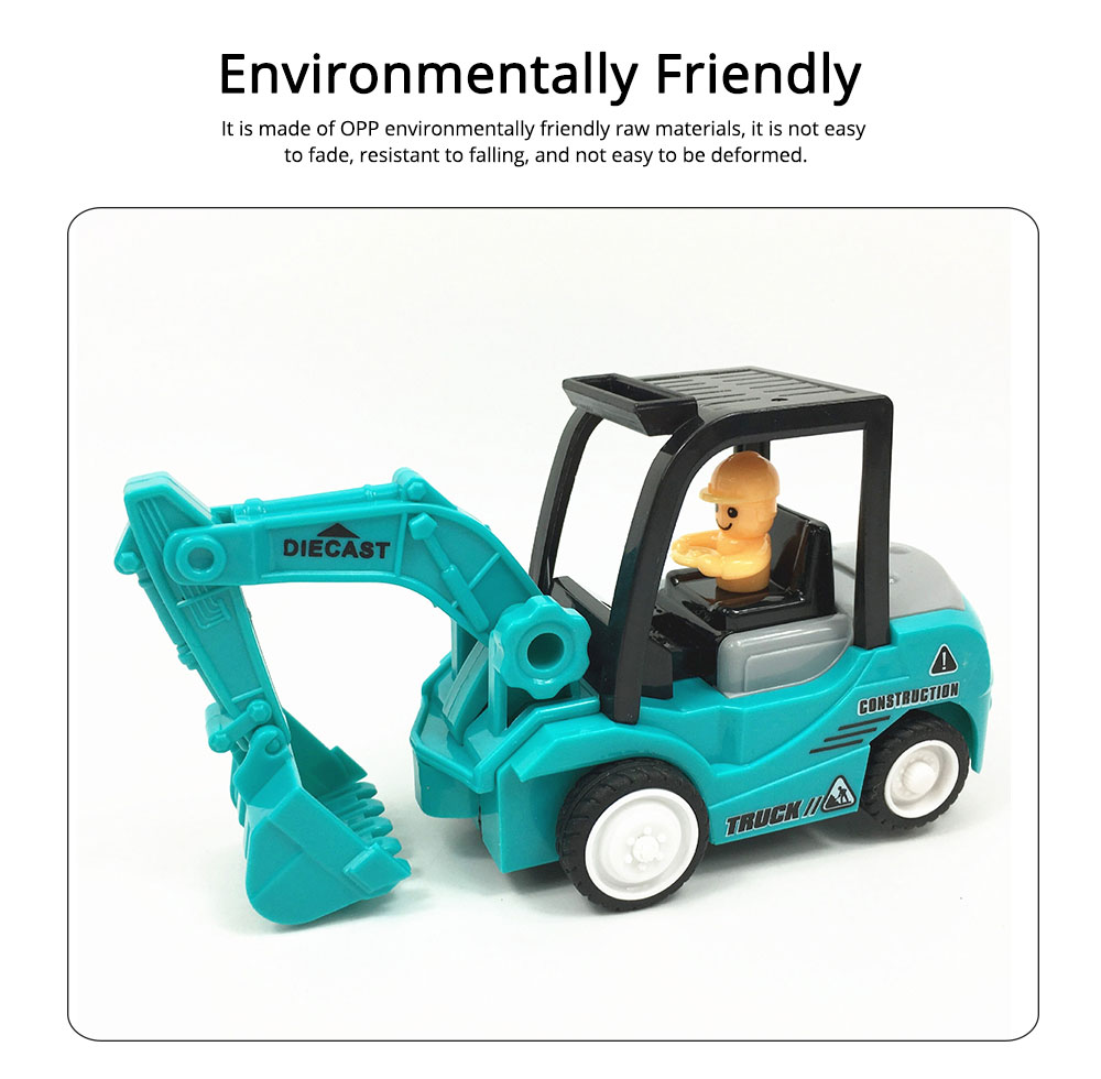 Construction Vehicle Toy Car, Mini Toy Excavator, Simulation Engineering Truck, Children's Toy Bulldozer 3