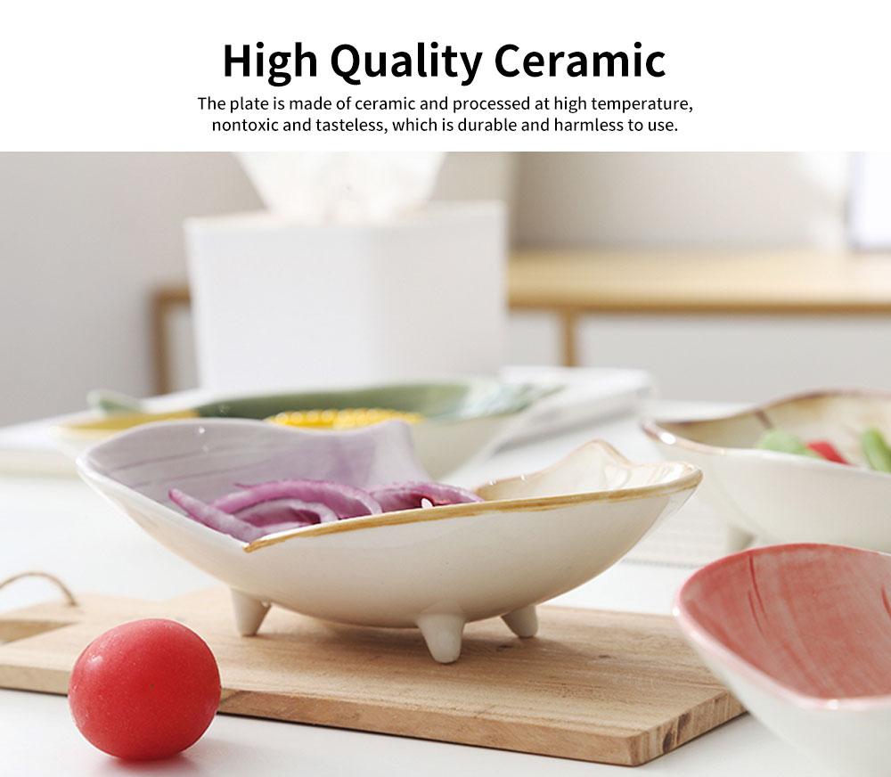 Ceramic Snack Bowl Creative Vegetable Shape Fruit Salad Dessert Bowl for Baby Assisted Food Bowl 1