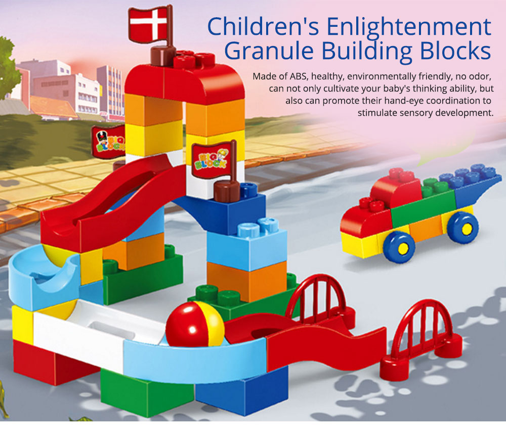 Children's Enlightenment Granule Building Blocks, Inserting Blocks, Baby Puzzle Early Learning Non-toxic Environmental Toy Building Blocks 0