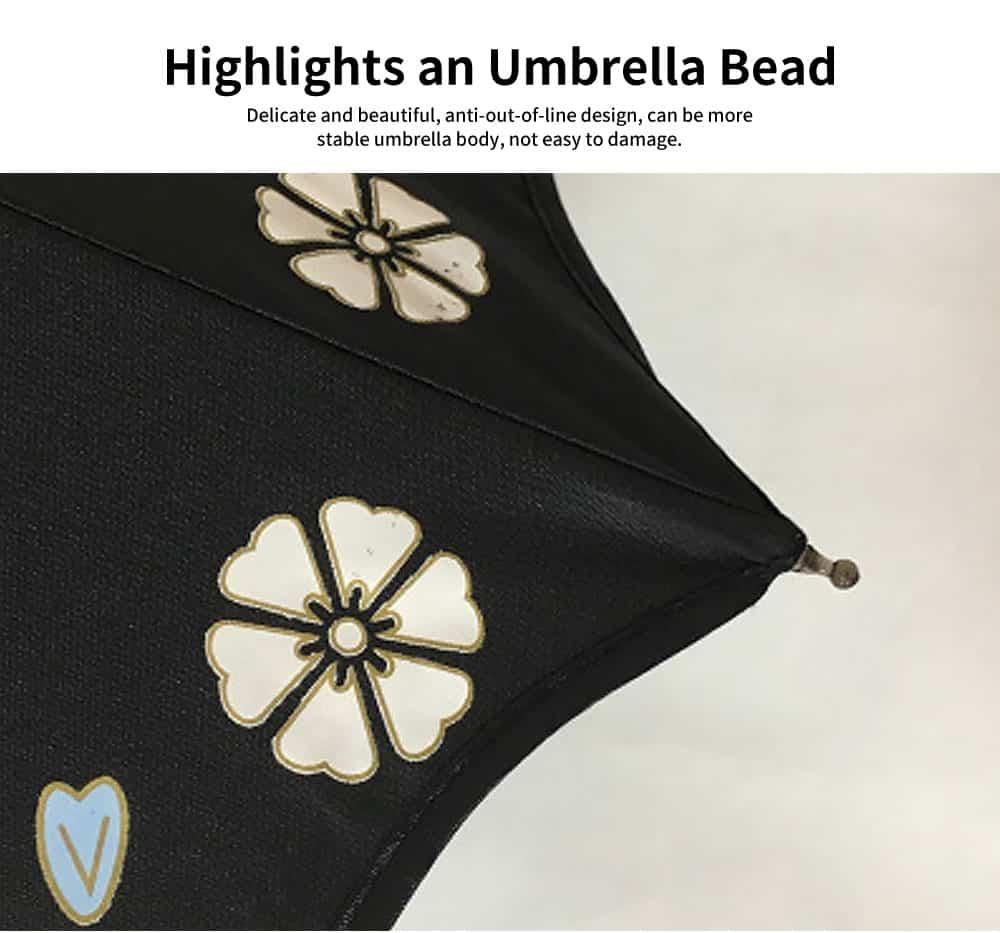 Creative Water Color Changing Umbrella, Vinyl Three-Fold Sunshade Sun Umbrella, Anti-UV Sun Umbrella 3