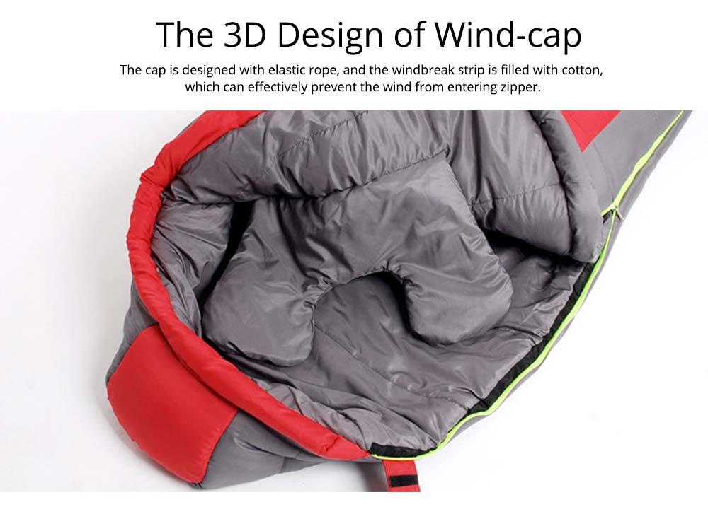 Mummy Splicing Sleeping Bag 3D Thicken Cotton Warm Sleeping Bag for outdoor camping Hiking Winner Autumn 2
