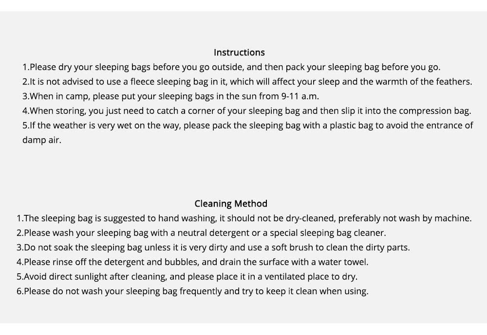 Black Fire Outdoor Ultralight Waterproof Goose Down Sleeping Bag Envelope Warm Durable Sleeping Bag for Adult Camping Hiking 6
