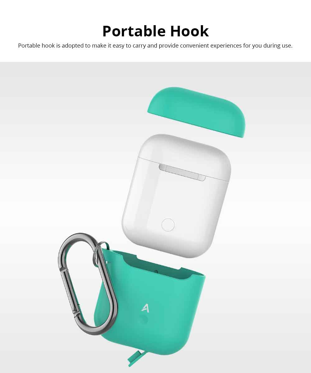 Free Collocation Silicone Carrying Case Cover For Airpods, Shockproof Smooth Skin Charging Sleeve Pouch Box 2