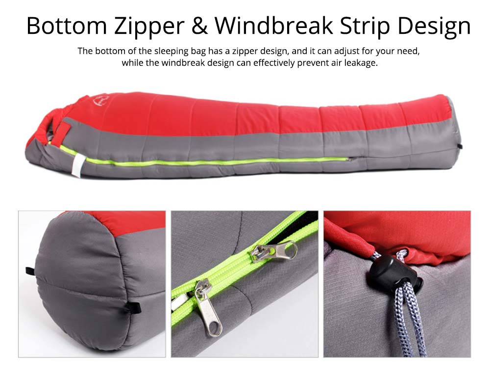Mummy Splicing Sleeping Bag 3D Thicken Cotton Warm Sleeping Bag for outdoor camping Hiking Winner Autumn 5