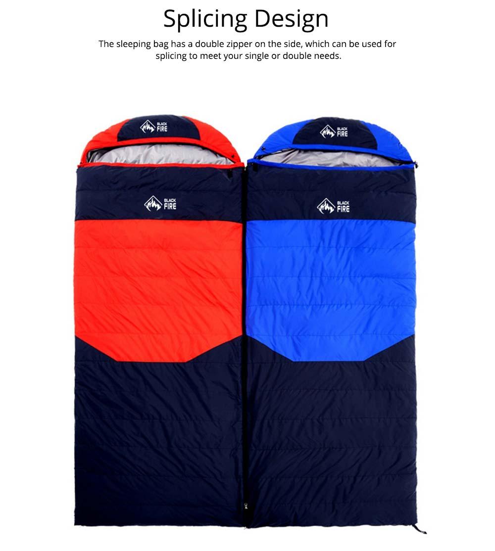 Black Fire Outdoor Ultralight Waterproof Goose Down Sleeping Bag Envelope Warm Durable Sleeping Bag for Adult Camping Hiking 3