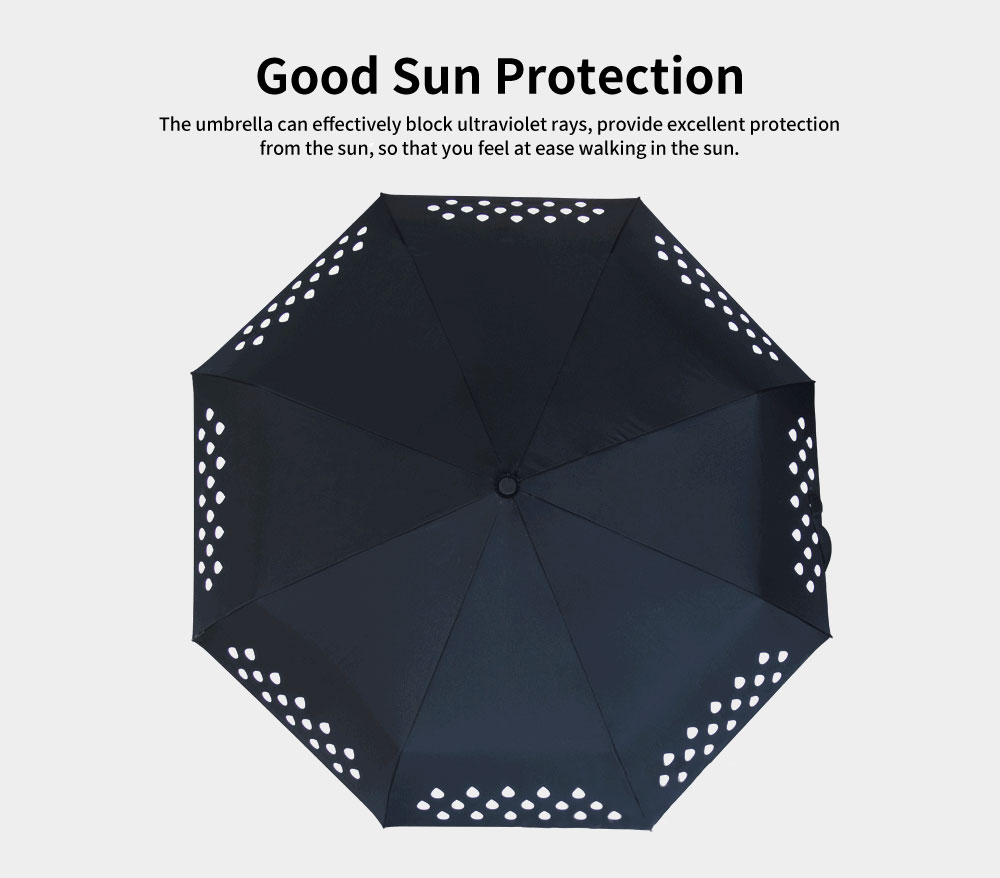 Water Droplet Gradient Creative Umbrella, Three of Fold Automatic Opening Umbrella, Water Color Changing Umbrella 2