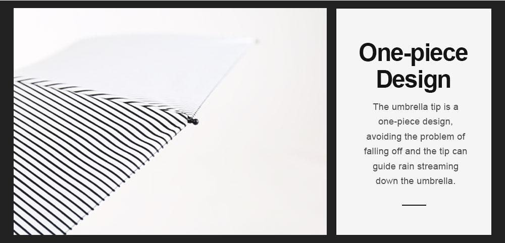 New Style Three Folding Umbrella Fashionable Black and White Stripe Vinyl Sun Protection Umbrella UV Proof 2019 3