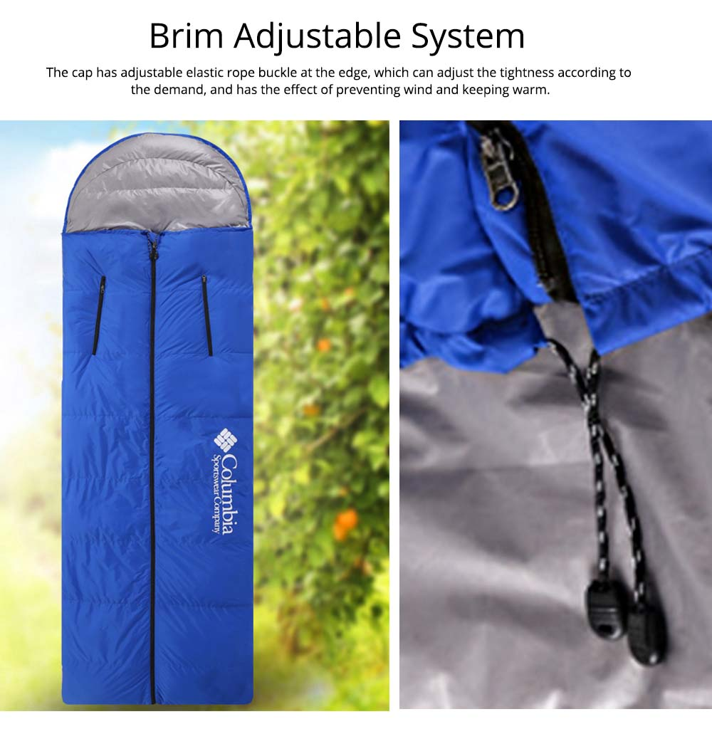 White Duck Down Outdoor Sleeping Bag Ultralight Portable Envelope Stretch Hand Warm Sleeping Bag for Adult Camping Hiking 6