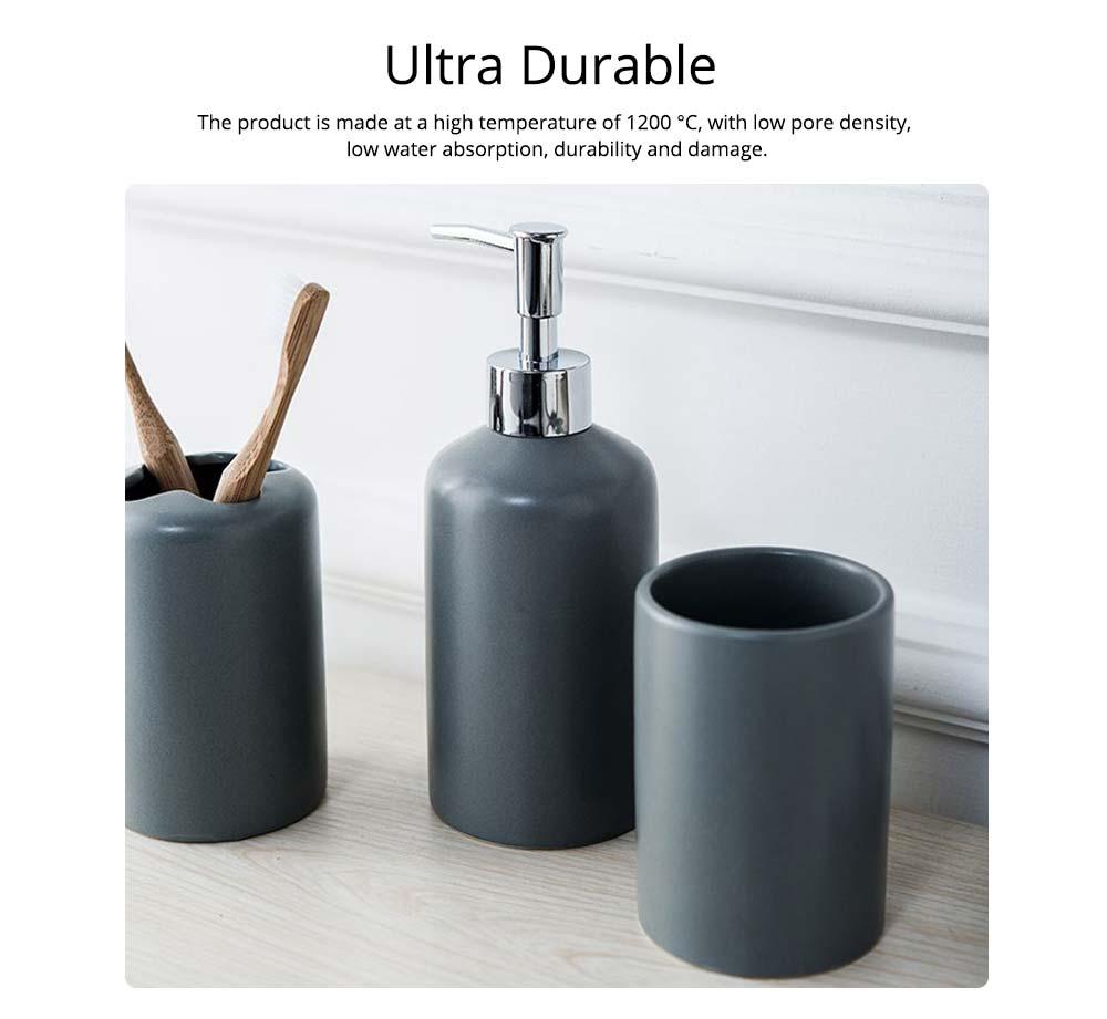 Five-piece Bathroom Set, Porcelain Bathroom Accessory Set, Bathroom Products Shower Gift Box 1