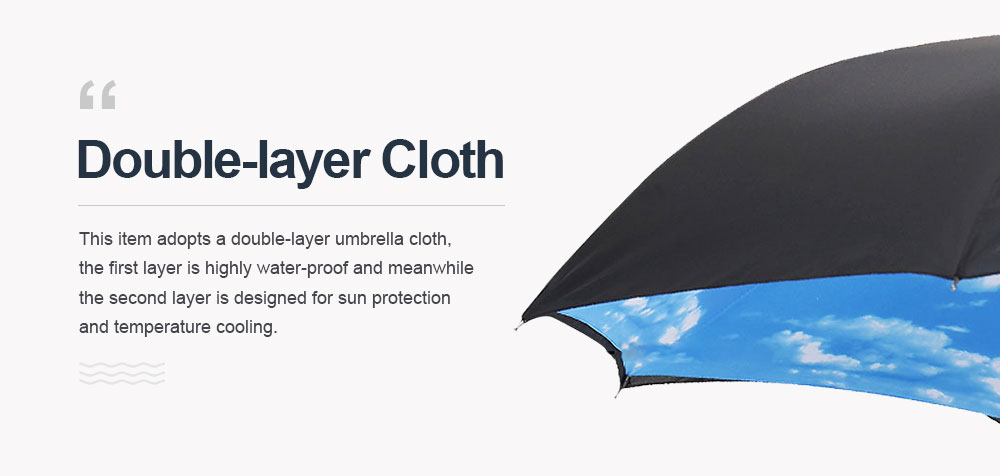 Inverted Umbrella With C-shaped Handle, Allow for Customization and Free Logo Printing,  Reverse Umbrella for Both Sun and Rain Use 2