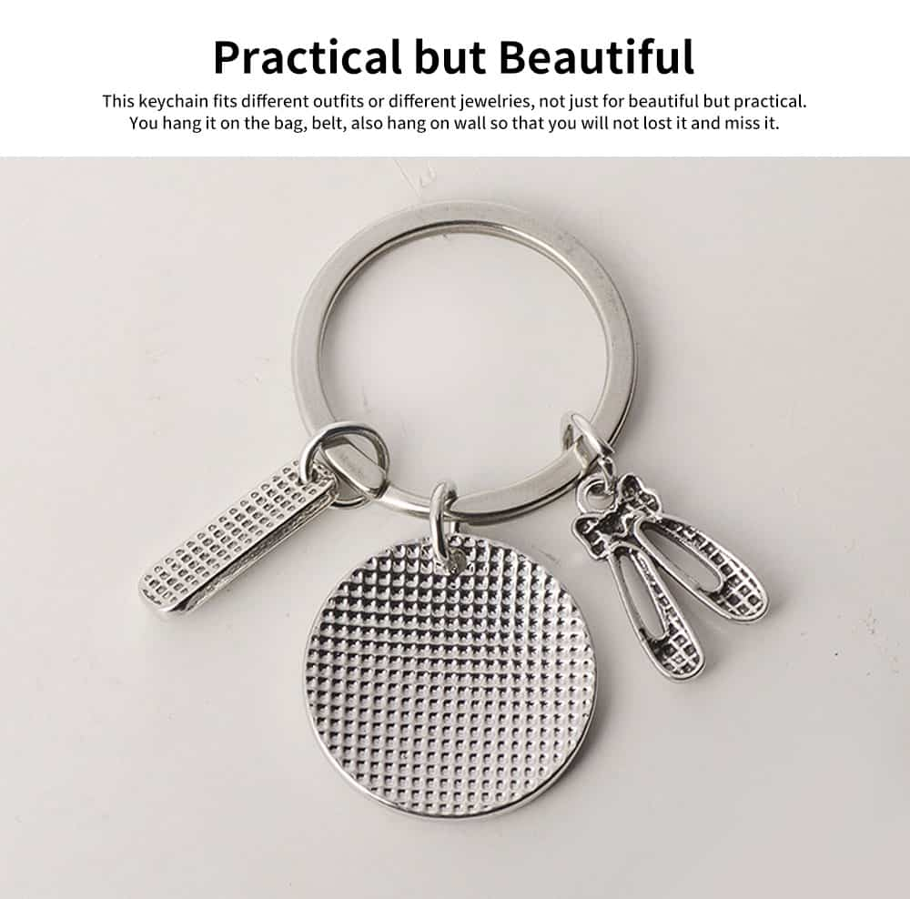 Personalized Pendant Key Ring, Stainless Steel Keychain Fashion Accessories Gift for Dance Teacher Instructor 3