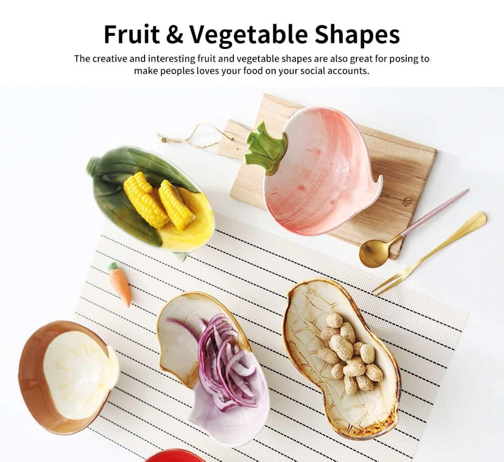 Ceramic Snack Bowl Creative Vegetable Shape Fruit Salad Dessert Bowl for Baby Assisted Food Bowl 2