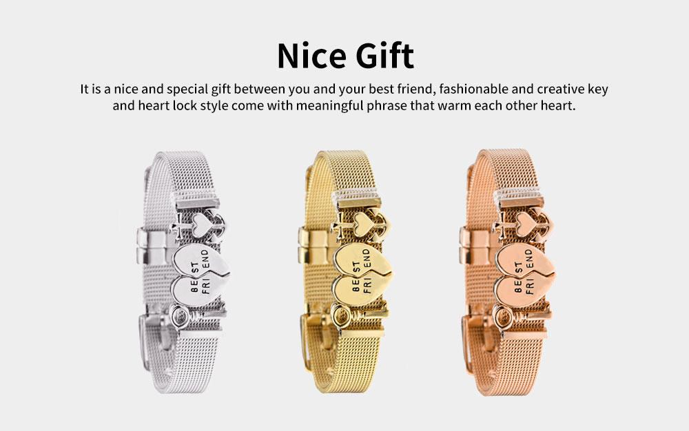 Simple Lettering Plated Stainless Steel  Bracelet, Elegant Relationship Bangle Mother's Day Valentine's Day Gifts 4