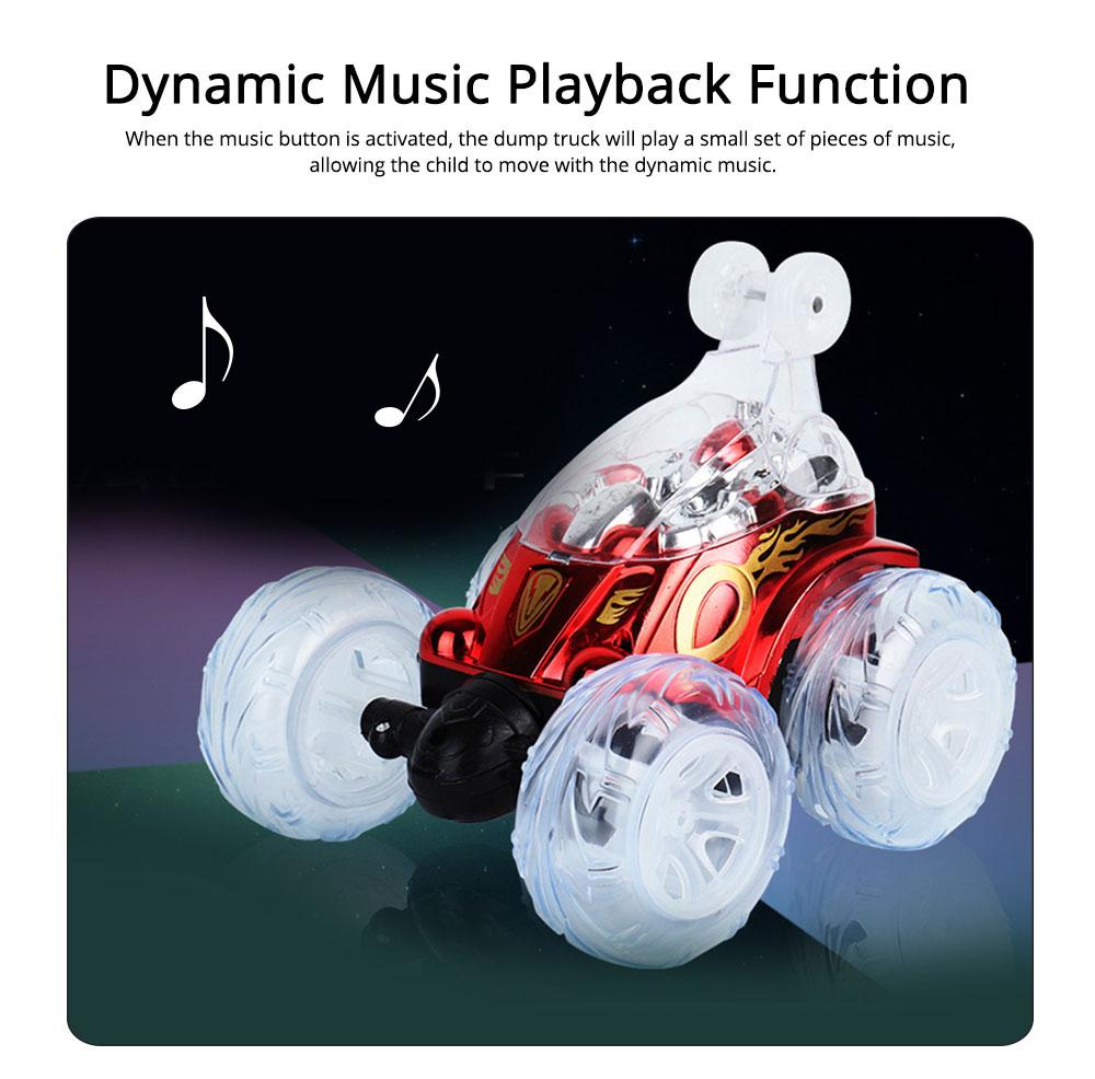 Remote Dump Truck Light Music Children's Toy Car Remote Control Car 3
