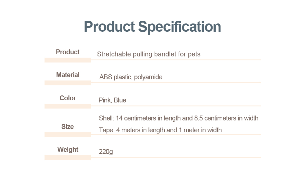 Hauling Cable for Pets, Innoxious and Stretchable Small-sized Polyamide Tow Rope, Auto Scaling Pulling Bandlet 5
